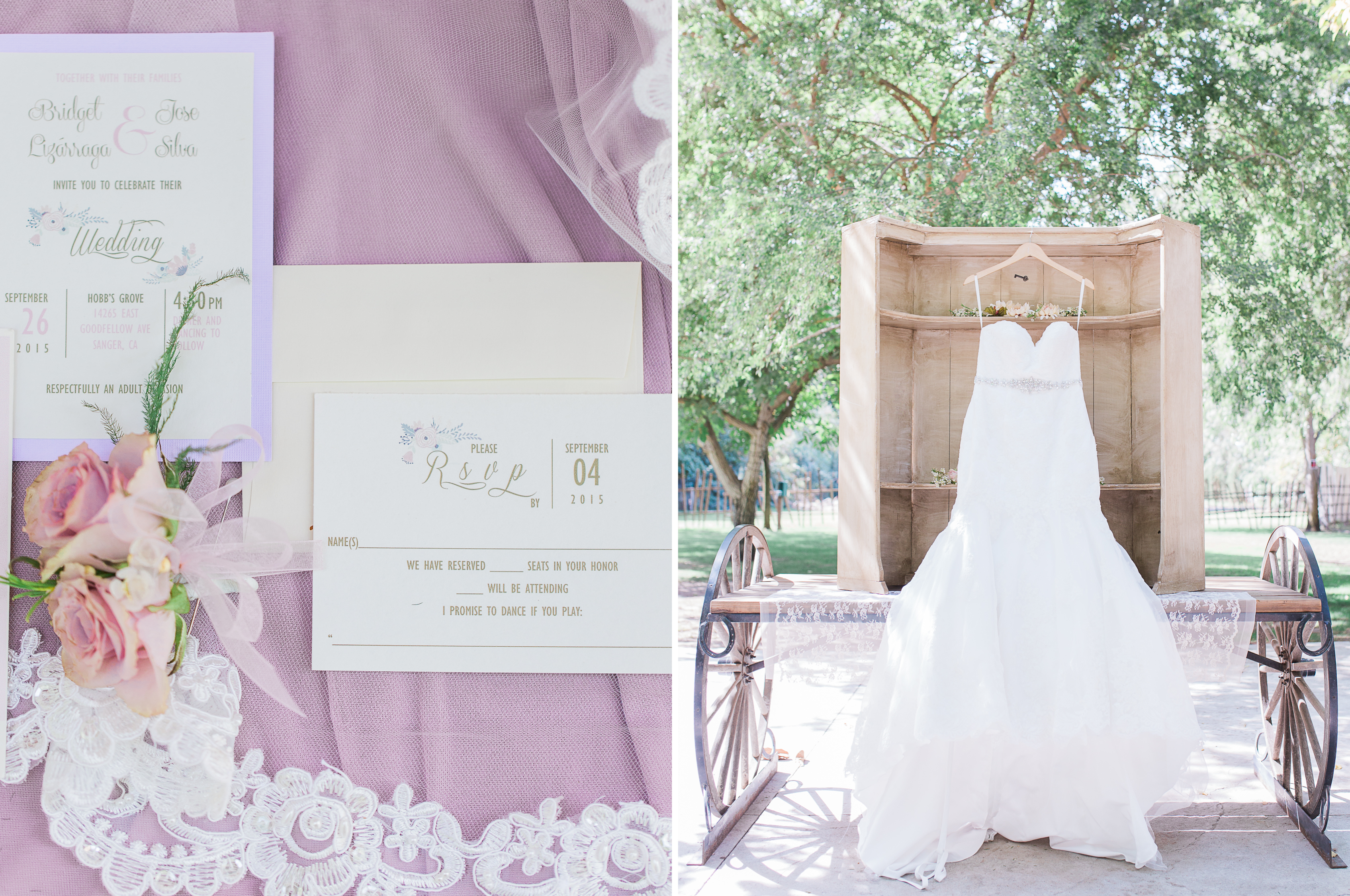Bridget + Jose | Romantic mauve & Gold wedding at Hobbs Grove – Fine ...